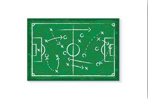 Strategy concept football vector