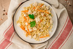 Chicken bulgur pilaf