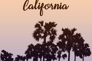 California Palm Trees Design
