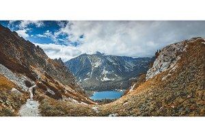 Strbske Pleso lake in the valley. The Tatras.