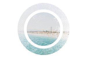 Santa Monica Beach View Circular