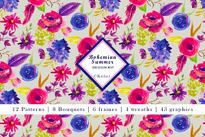 Bohemian Summer Floral Design Kit