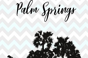 Palm Springs Chevron Design