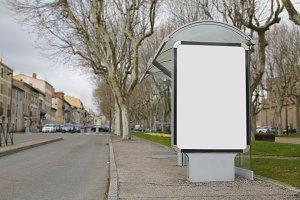 Blank bus stop