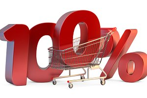 Shopping cart with 100% discount sig