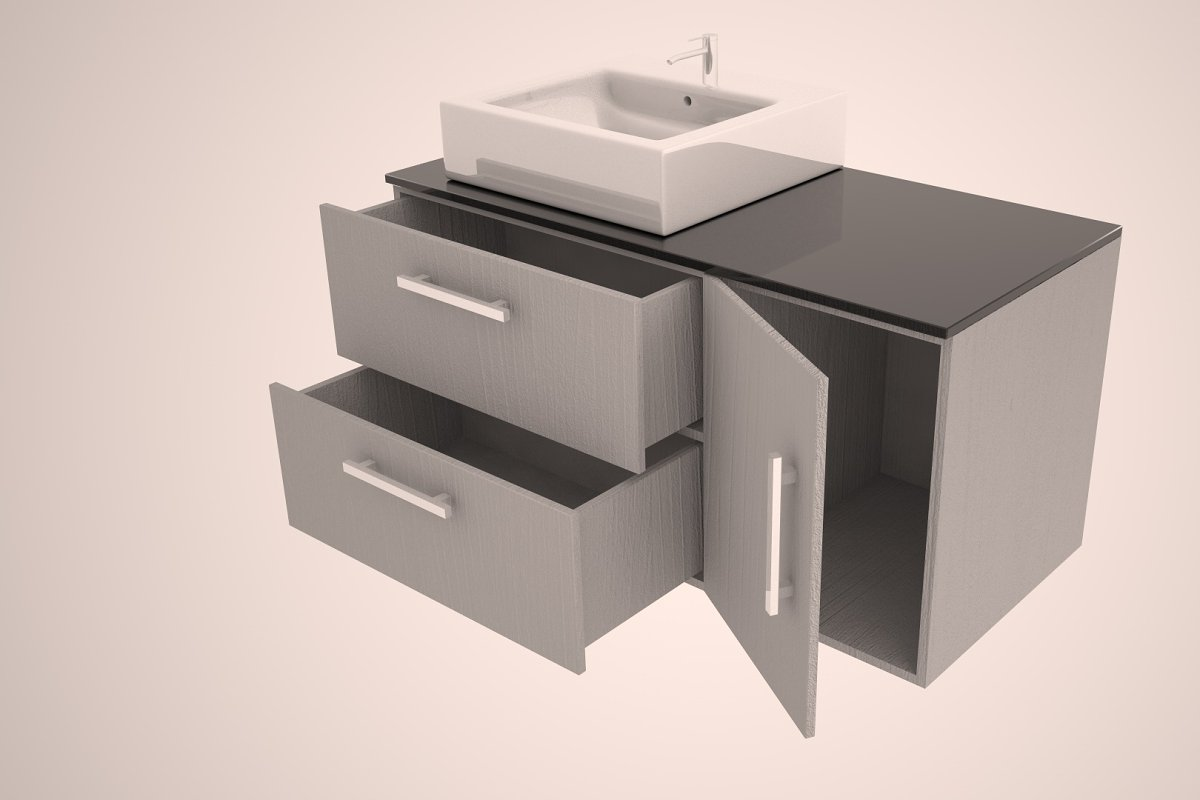 Godmorgon Sink Set High Quality 3d Furniture Models Creative