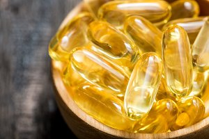 Fish oil capsules with omega 3
