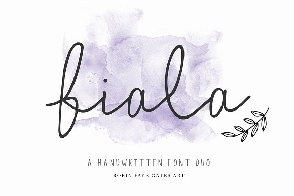 Fiala // A Handwritten Font Duo