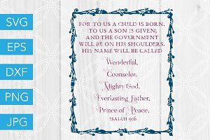 Isaiah 9 6 Prince of Peace Bible SVG