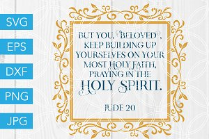 Jude 20 Scripture Verse SVG Cut File