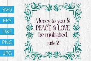 Jude 2 Scripture Bible Verse SVG