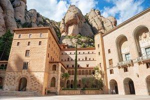 Exterior of Montserrat monastery