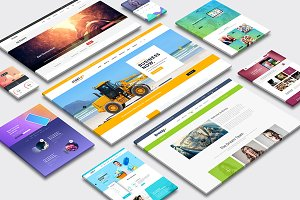 Multi Dimension Website Mock-Up 04