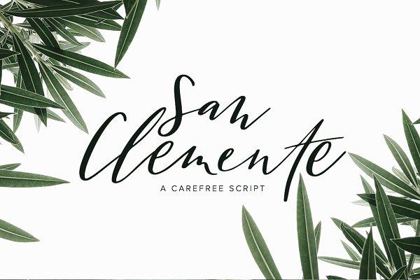 Script Fonts: Jen Wagner Co - San Clemente | A Carefree Script