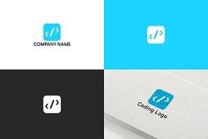 Coding logo design | Free UPDATE