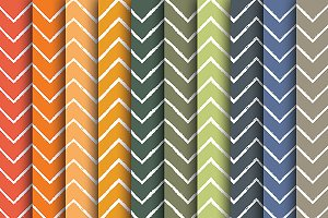 Hand Drawn Fall Chevron Papers