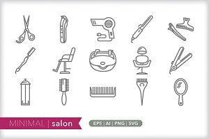 Minimal salon icons