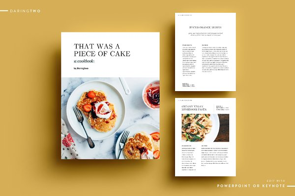 Magazine Templates: DaringTwo - R2 Ebook Template Powerpoint Keynote