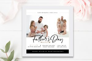 Father's Day Mini Session Template