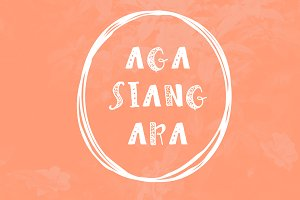 Agasiangara Font Kids Book & Fun