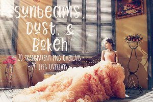 Sunbeams, dust, and bokeh overlays