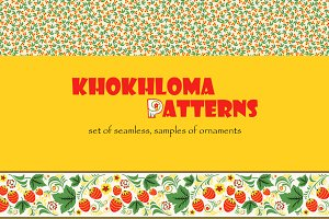 Set of patterns khokhloma
