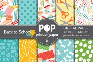 Back to School - 10 digital papers