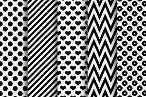 B&W Valentine Digital Papers