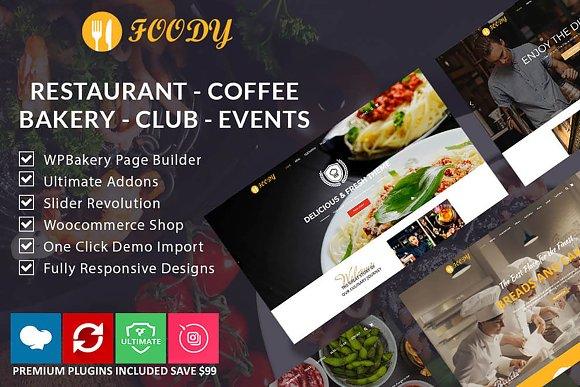 Foody Restaurant Coffee Bakery