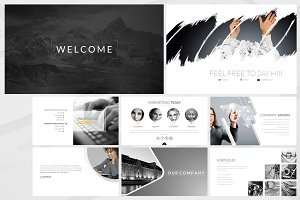 Kuro Powerpoint Template