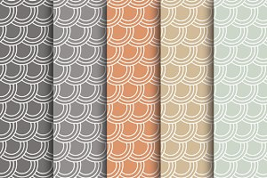 Muted Fish Scale Papers