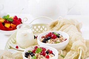 Tasty and healthy oatmeal porridge