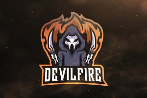 Devil Fire Sport and Esports Logo
