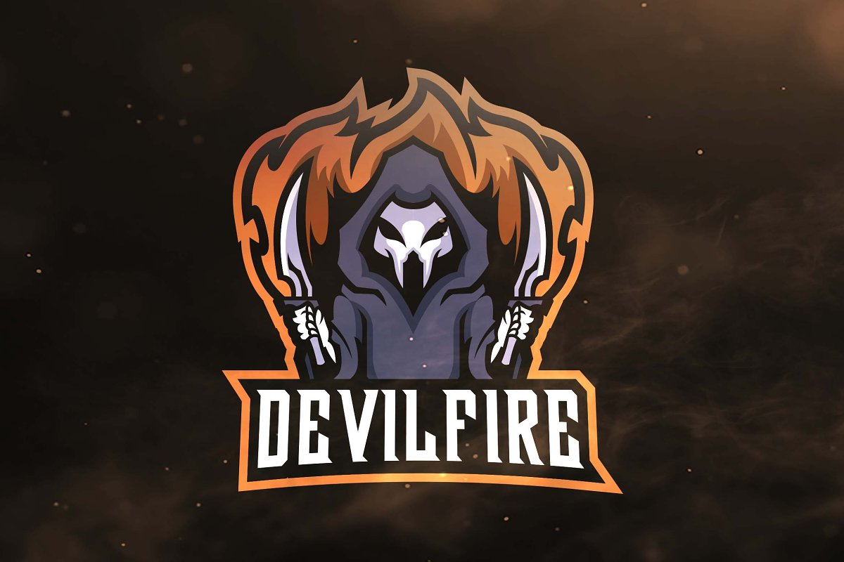 ac5139ad79e Devil Fire Sport and Esports Logo ~ Logo Templates ~ Creative Market