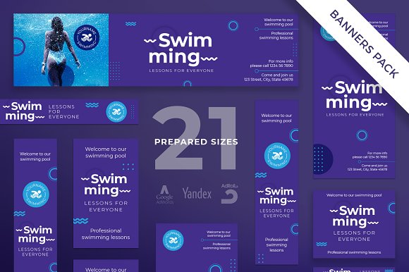 Banners Pack Swimming Lessons
