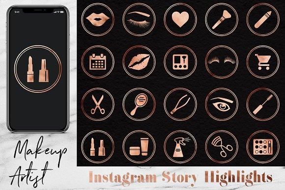 Makeup Artist Icons Set in Instagram Templates