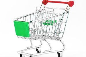 Small metal shopping cart