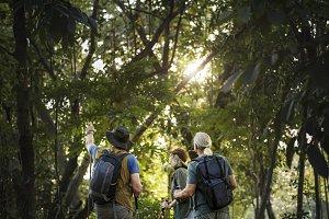 Senior hiking