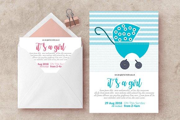 Baptisam Sunday Invite Card Template