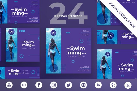 Social Media Pack Swimming Lessons