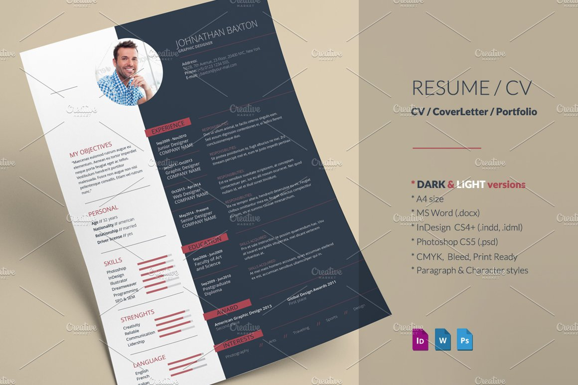 Resume Check Resume Cv  Resume Templates  Creative Market Property Management Resumes Word with Simple Resume Excel  Types Of Skills For Resume Word