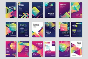 Abstract modern geometric brochure