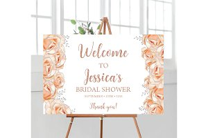 Bridal Shower Rose Gold and Silver