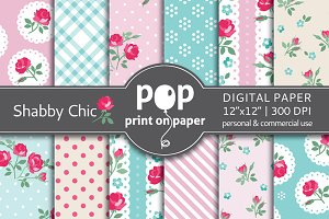 Shabby Chic - 12 digital papers