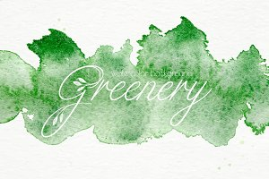 Watercolor greenery background