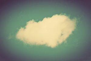 A single cloud on clear sky