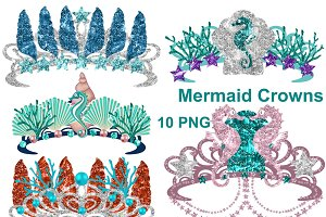 Mermaid Crowns Clipart