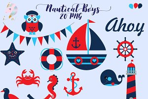 Nautical for Boys Clipart