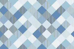 Blue and white geo checker pattern