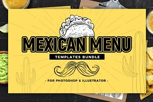 Mexican Menu Templates (Bundle)